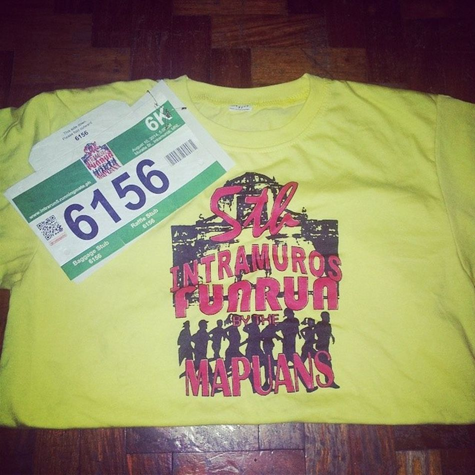 Aiming for top 15-20. Let's do this! Mapua Funrun Shortdistance Mapuan 5th runner run