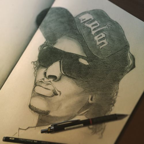 Rip EasyE NWA Compton Drawing feels good to draw again.