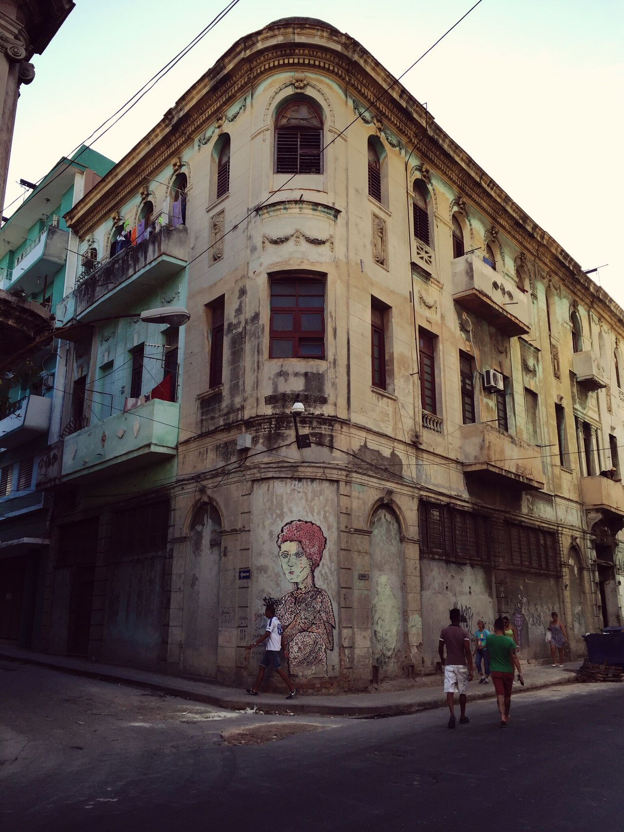 Cuba Building Exterior Architecture Havanna, Cuba Streetphotography Streetart Old Buildings People In The Streets