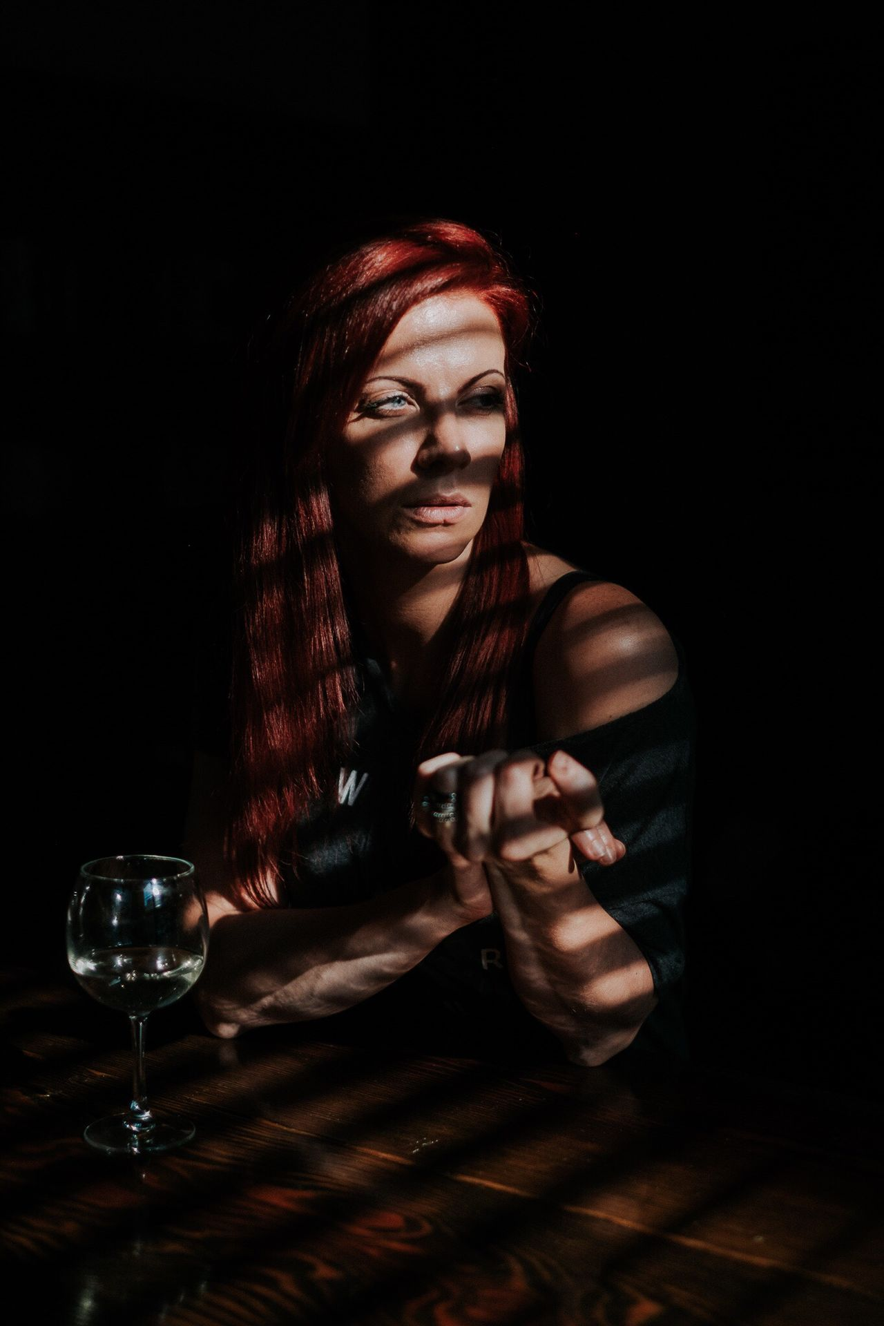 Atlanta,GA. 2016 Atlanta Atlanta Ga Portrait Portrait Of A Woman Light And Shadow Light Shadow Glass Glass Of Wine Table Documentary Fujifilm Fujifilm_xseries FUJIFILM X-T1