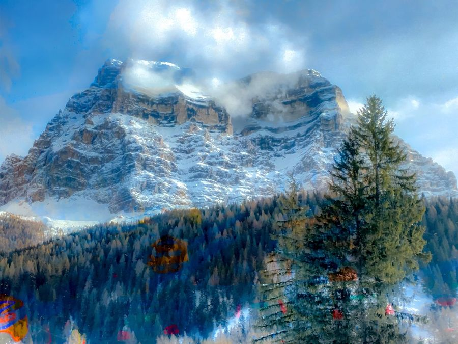 Dolomiti Dolomites, Italy Pelmo Outdoor Photography Mountains Trees Sky And Clouds Snow ❄ Spring Is Coming  Spring