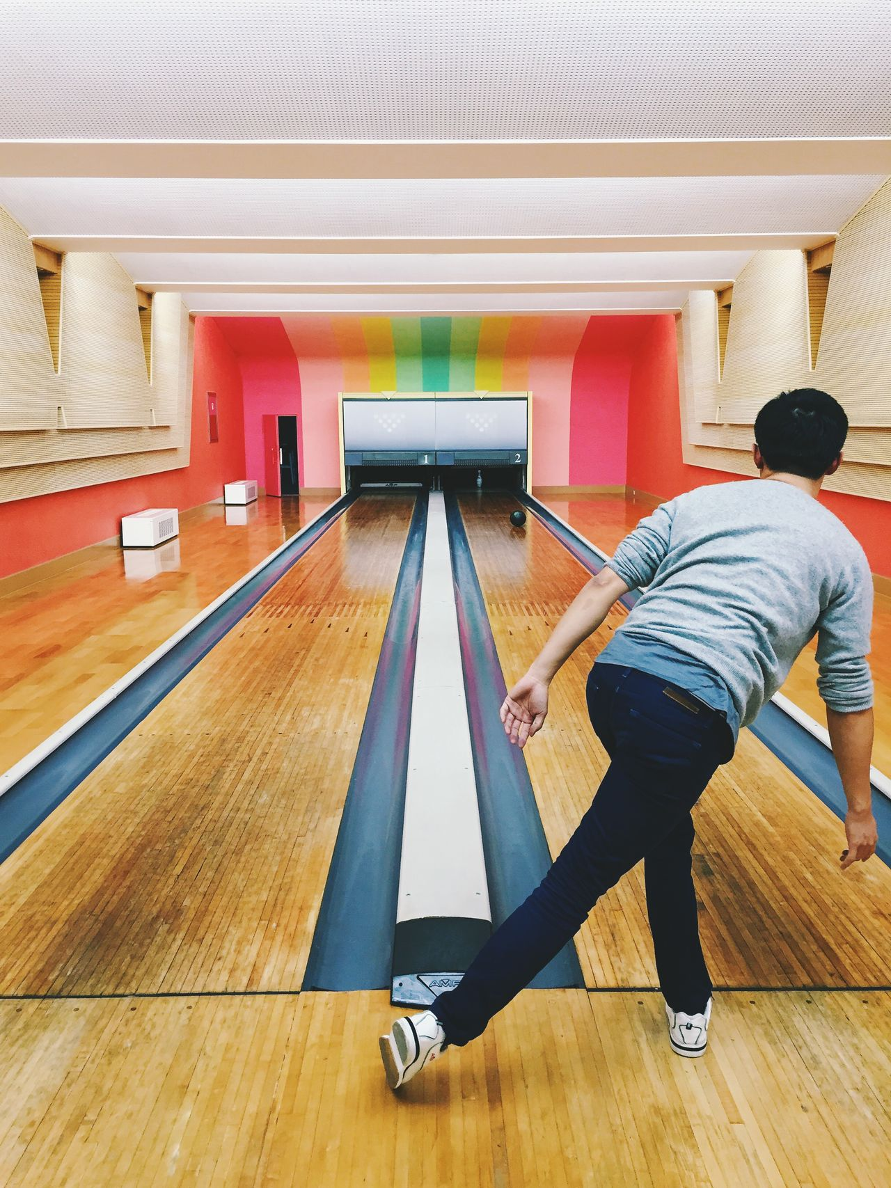 Bowling Bowling Alley Casual Clothing Day Flooring Leisure Activity Lifestyles Modern