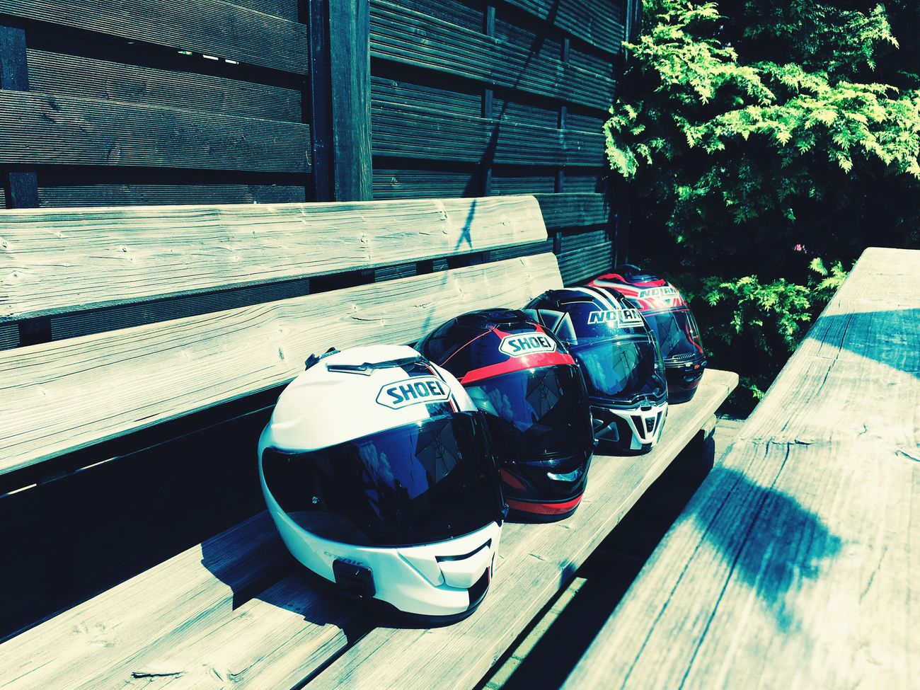 4 helmets