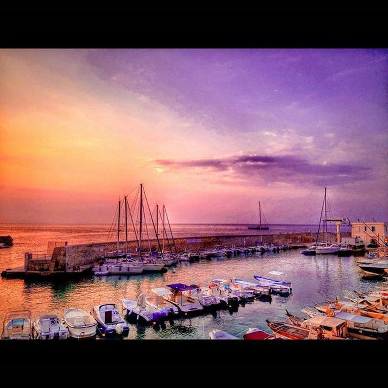 Salento Nature Water Sea Mare Dawn Sunrise Alba Sky Cielo Colorful Instaday Picoftheday Boats Port Tricase Ig_salento Ig_lecce Ig_puglia Red Blue Wonderful Beautiful Instagood Italy acqua life natura purple