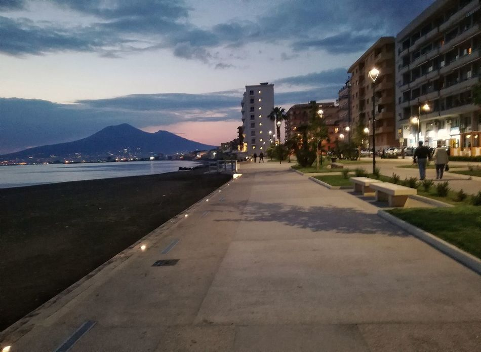 Architecture Built Structure Building Exterior Sky Outdoors Transportation City Illuminated Cloud - Sky Road Day Water No People Castellammare Di Stabia Napoli Italy🇮🇹 Naples, Italy Naples, Vesuvio