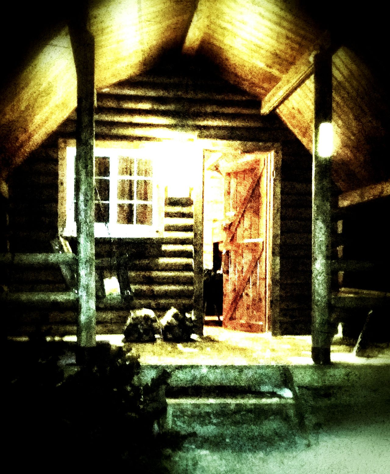 Our cabin for Valentine's Day!!! Cold night at the KOA. Camping Cabin Roughing It Noheat Hiking Campground Koa Virginia Love Outdoors