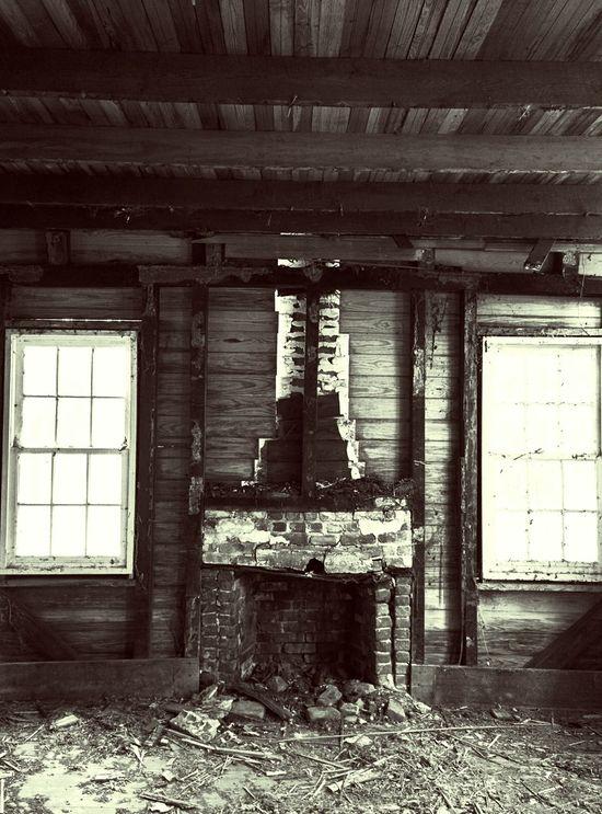 Fireplace Urban Exploration Urbex Rotting Away Crumbling Building Windows