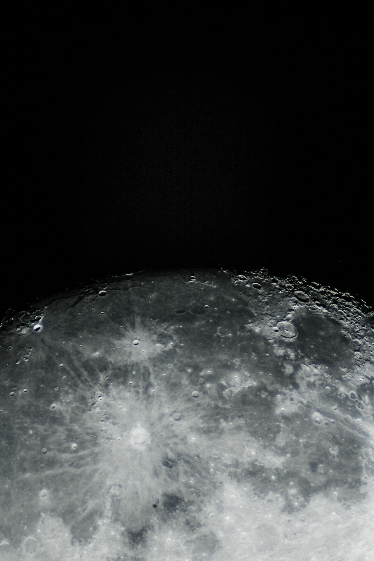 Luna Moon Night Sky Astronomy Astrophotography Desde La Ciudad Lunalunera