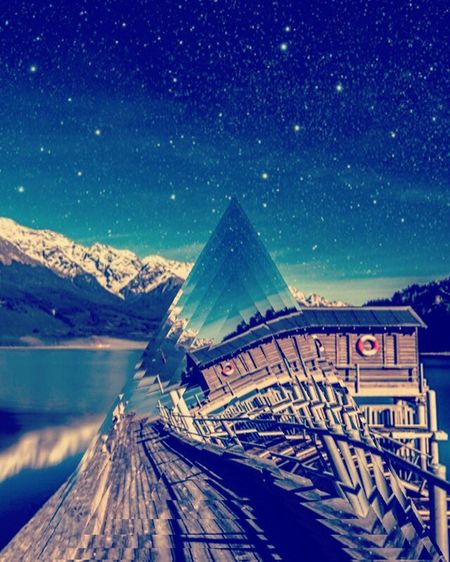 Time warp Em Edit Edit Junkie Cool Effects  Fragment App Mountain Cold Temperature Snow Nature Vibrant Color
