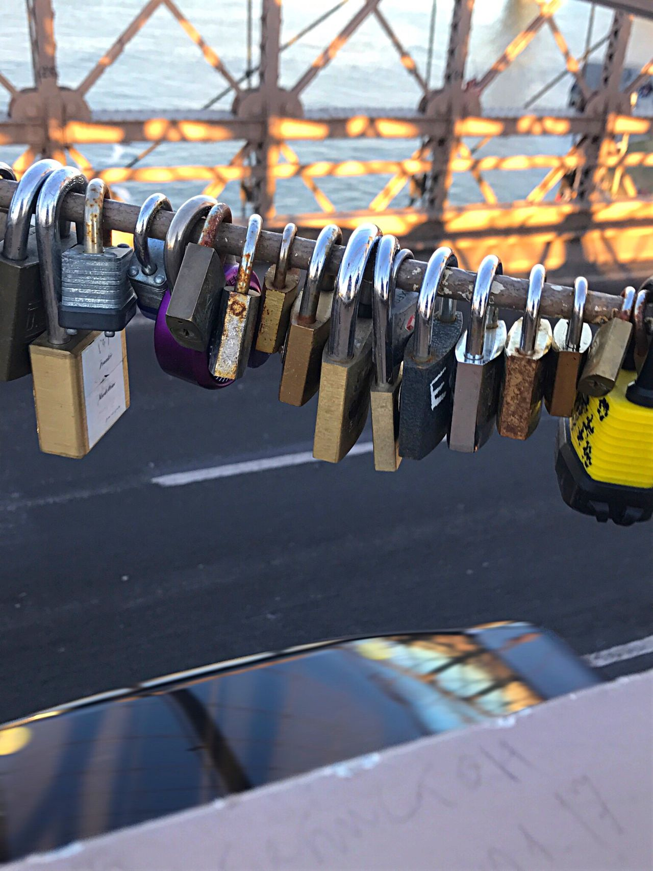 Close-up Metal Outdoors Day No People Locks Love Locks Love In The Air Love Locks Bridge Brooklyn Bridge / New York