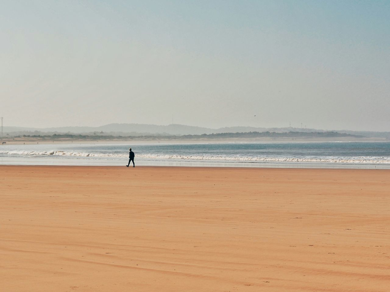 Sea Beach Horizon Over Water Sand Silhouette Outdoors One Person Nature Sky Water Real People Adult Adults Only One Man Only Lonely Loneliness Early Morning Morning Walk Beach Walk Essaouira Bay Essaouira Morocco