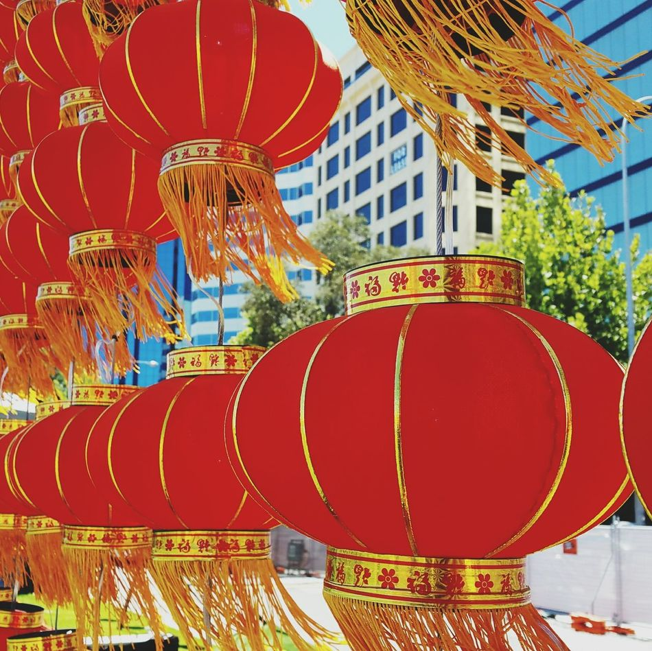Red Chinese Lantern Chinese Lantern Festival Chinese New Year Multi Colored No People Travel Destinations City Cultures