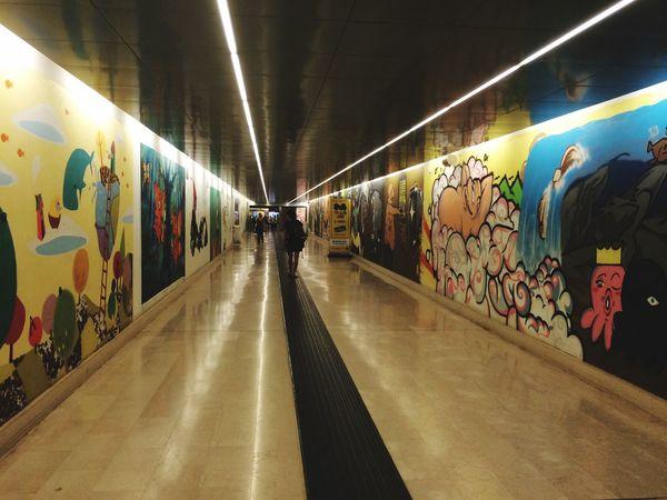 Streetphotography Underground Railway ArtWork People And Art Subway Great Atmosphere Donato Radatti Spotlights Spot