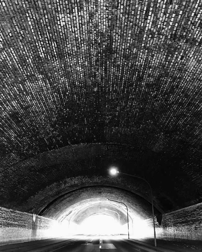 tunnel Tunnel Blackandwhite Texture Light Street
