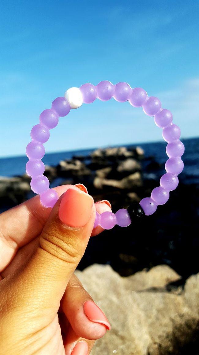 Another one Lokai Bracelet AlzheimersAwareness Findyourbalance Beach Photography Rocks RockyNeckStatePark
