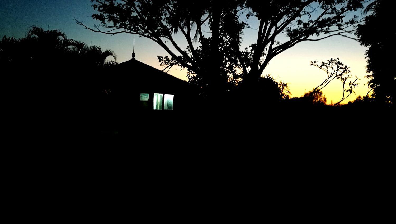 Silent evening. Silhouette Tree No People Nature Day Horror In Nature Myanmarstreetphotography Myanmar yangon Yangon Taywai Aye Chan Sky