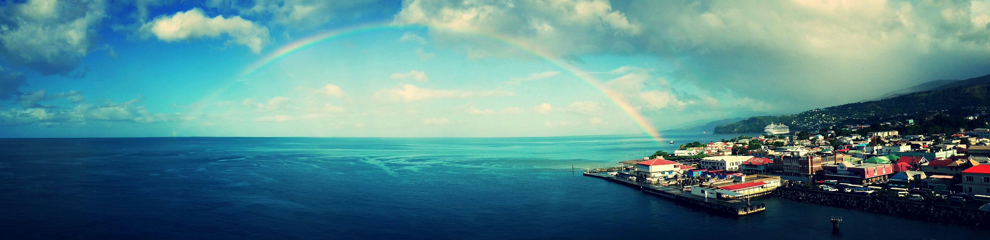 sea, water, horizon over water, sky, cloud - sky, scenics, beauty in nature, tranquil scene, blue, high angle view, tranquility, nature, waterfront, cloud, cloudy, beach, idyllic, built structure, coastline, seascape