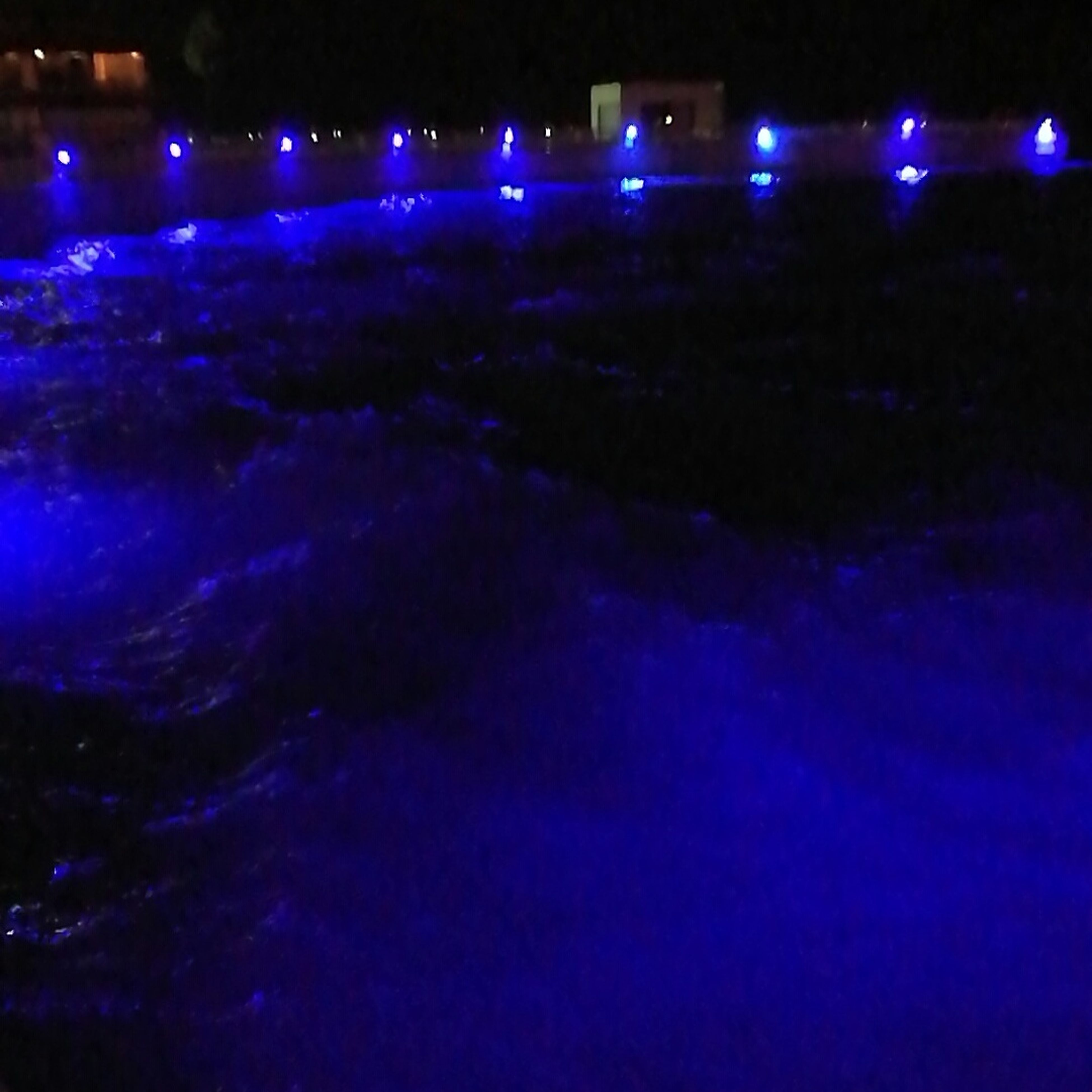 blue, night, illuminated, lighting equipment, arts culture and entertainment, no people, outdoors
