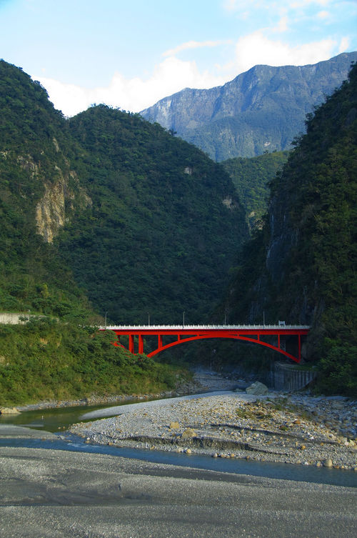 Arch Beauty In Nature Bridge Canyon Chinese Taipei Day Journey Landscape Mountain Mountain Range Nature No People Outdoors Road Scenics Sky Stream Taiwan Taroko National Park Transportation Travel Tree Wheelchair Access Winding Road