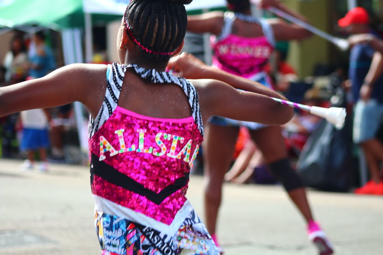 ALLSTAR Bermuda Bermuda Day Childhood Dancers Day Focus On Foreground Incidental People Leisure Activity Lifestyles One Person Outdoors Parade People Real People Rear View Women