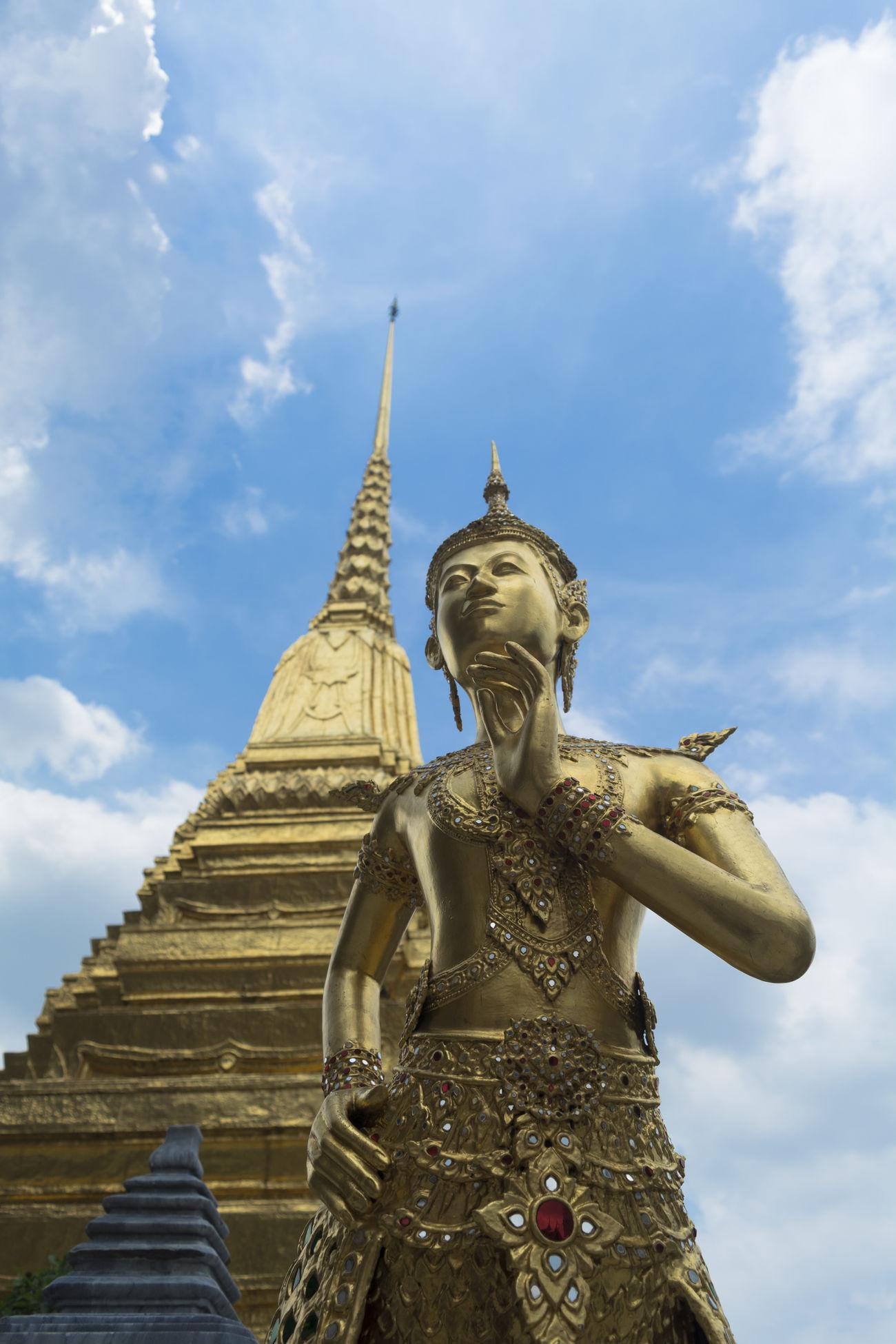 Thailand Bangkok Statue Vacations Outdoors Grand Palace Bangkok Thailand Budha Sky Landscape The Architect - 2017 EyeEm Awards
