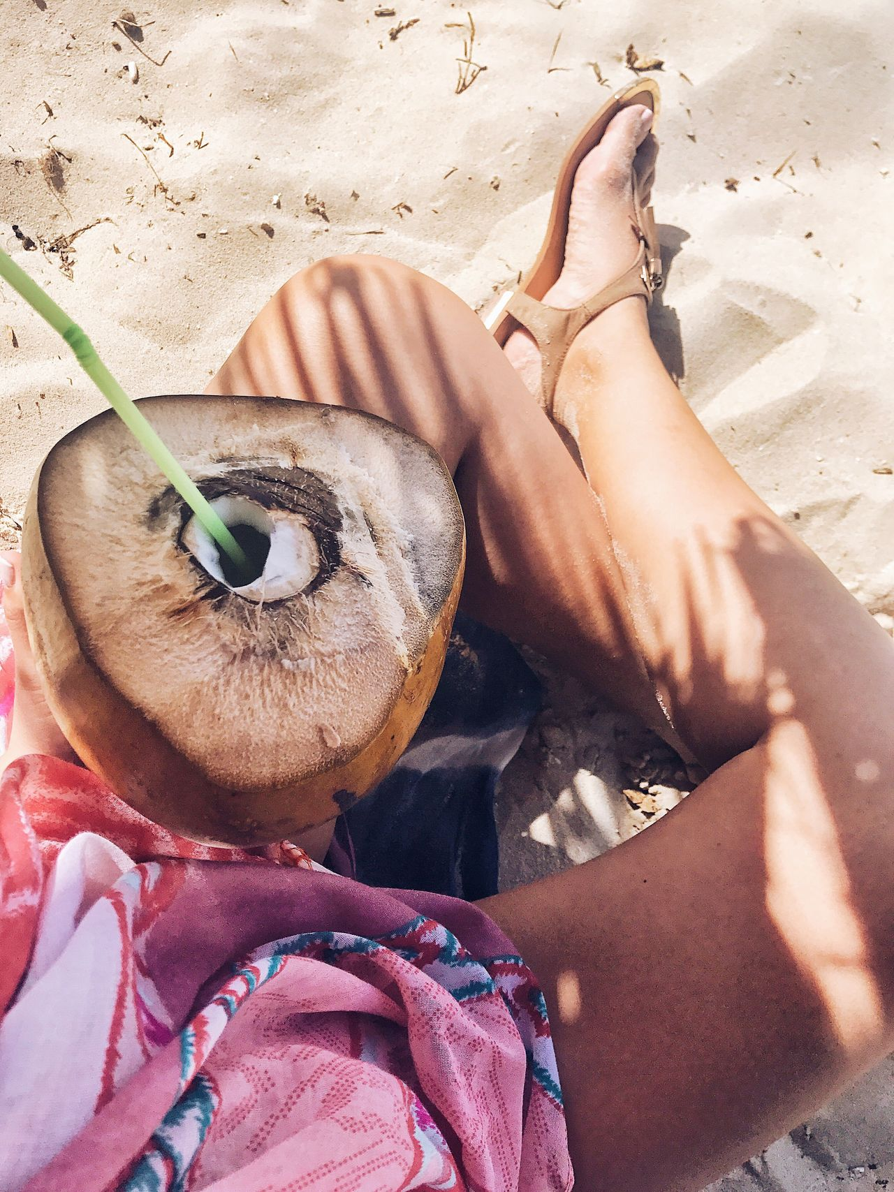 A day can't go wrong at the beach next to a coconut filled with cold coconut water... Beach Real People Sand Lifestyles Summer Human Body Part Human Leg Sitting Nature Food Human Hand Close-up Cocktail Coconut Beach Life Chilling Relaxing Vacations Summertime Cuba Varadero Piña Colada Drinking Fresh