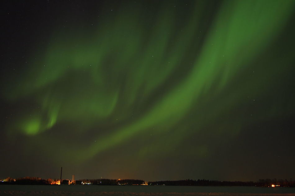 Beautiful stock photos of space, Aurora Borealis, Beauty In Nature, Finland, Green Color