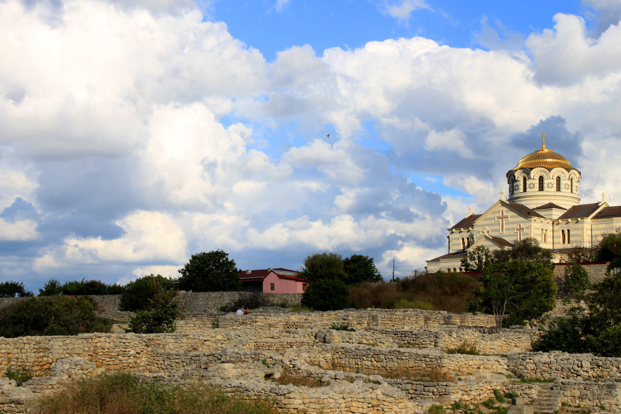 Architecture Building Exterior Built Structure Cloud - Sky Crimea Crimea,Russia Day Dome History Nature No People Outdoors Place Of Worship Religion Ruin Ruine Ruined Ruined Building Ruins Ruins Architecture Sevastopol  Sevastopol' Sky Spirituality Travel Destinations