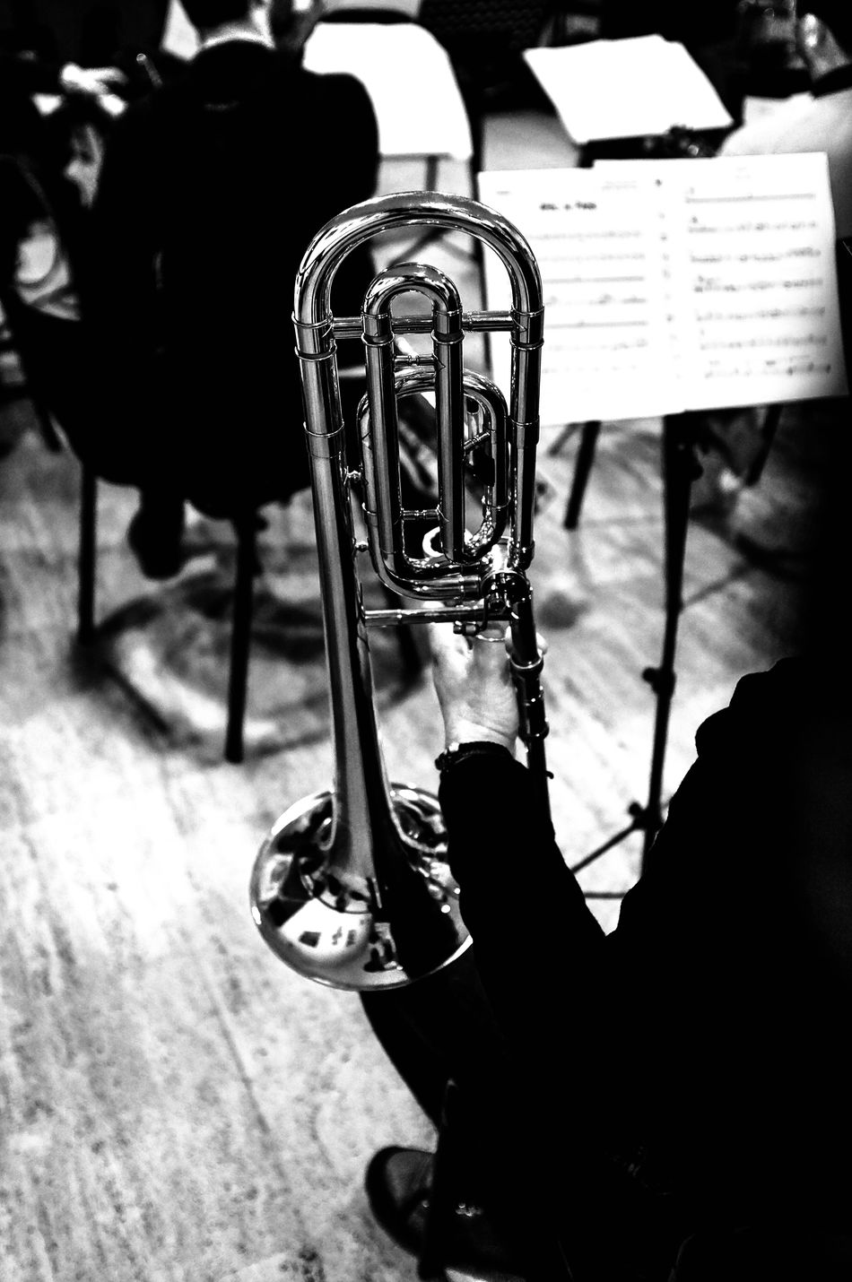 Jazz Jazzband Trombone Blackandwhite Shooting Music Musical Instruments Musician Black And White Photography Blackandwhitephotography EyeEm Best Shots - Black + White