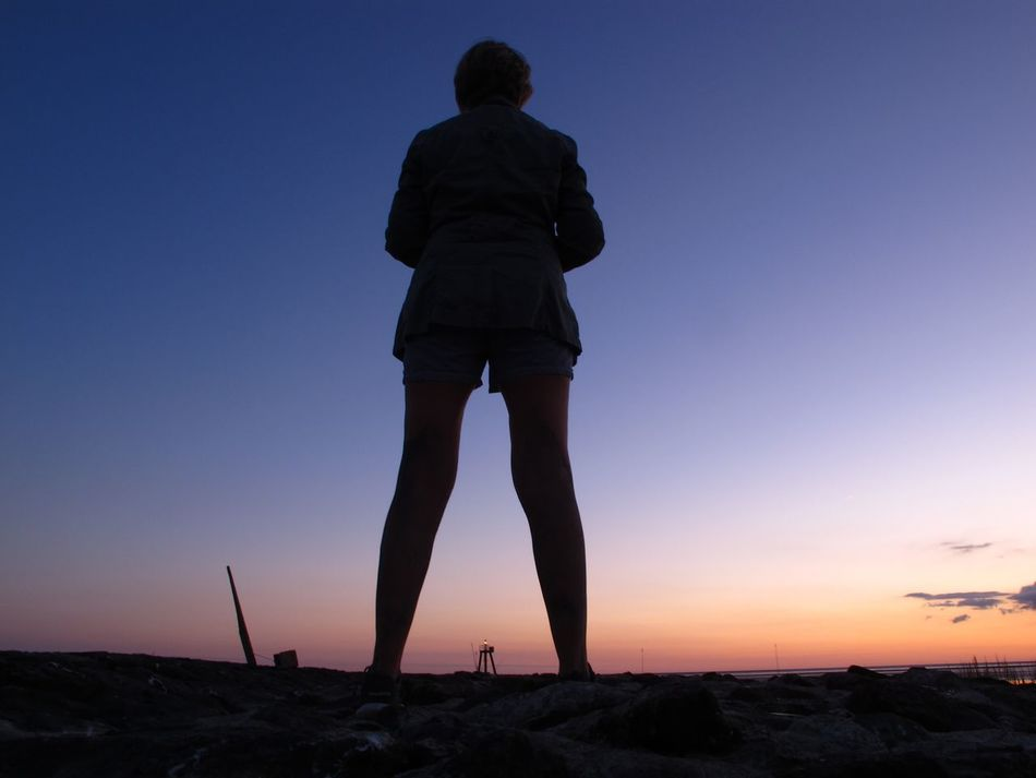 Balanced and focused Silhouette Sunset Sunset_collection Sea Mark Path Different Perspective Landscape Women Scenics Outdoors Escapism Full Length Tranquil Scene Remote Landscape_Collection North Sea Standing Tall Facing The Ocean Facing Forwards Canon Sea Side Light In The Darkness Northsea People And Places Overnight Success Women Around The World Long Goodbye