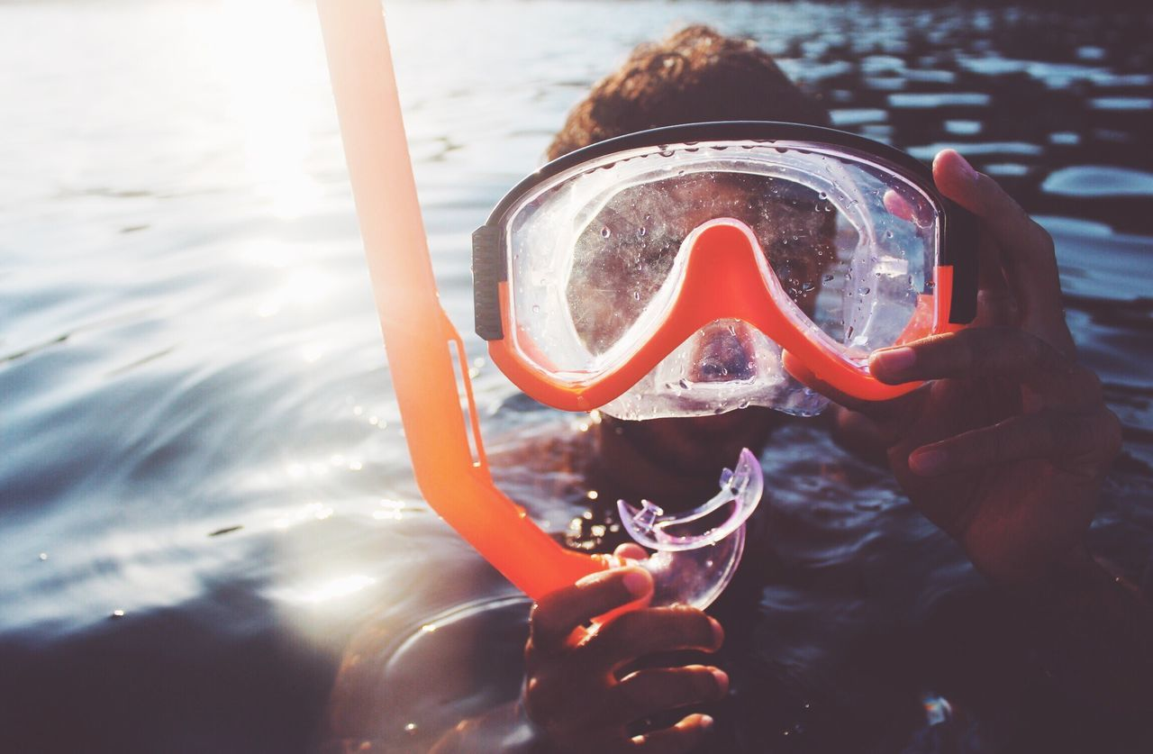 Too much filter, I'll share it again 😀 leisure activity water one person real people lifestyles scuba mask Swimming outdoors day portrait sea adventure Scuba diving young adult close-up Nature Holiday Vacations Snorkeling