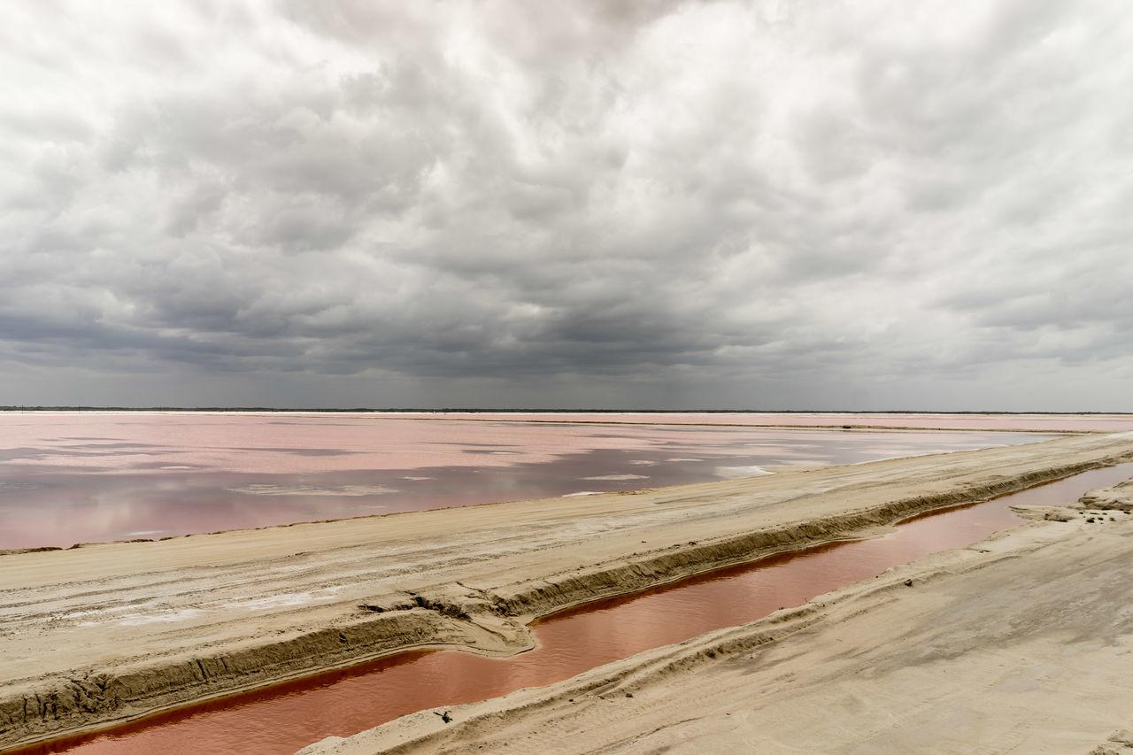 pink sea Beauty In Nature Cloud - Sky Cloudy Dramatic Sky Horizon Over Water Mexcio Overcast Pink Progreso Rio Lagartos Sand Sky Tranquil Scene Unreal Color Yucatan Peninsula