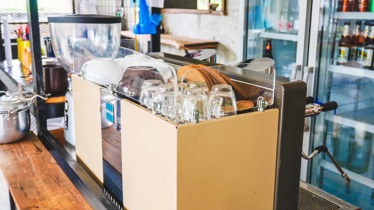 bottle, indoors, no people, cash register, drink, close-up, technology, vending machine, day