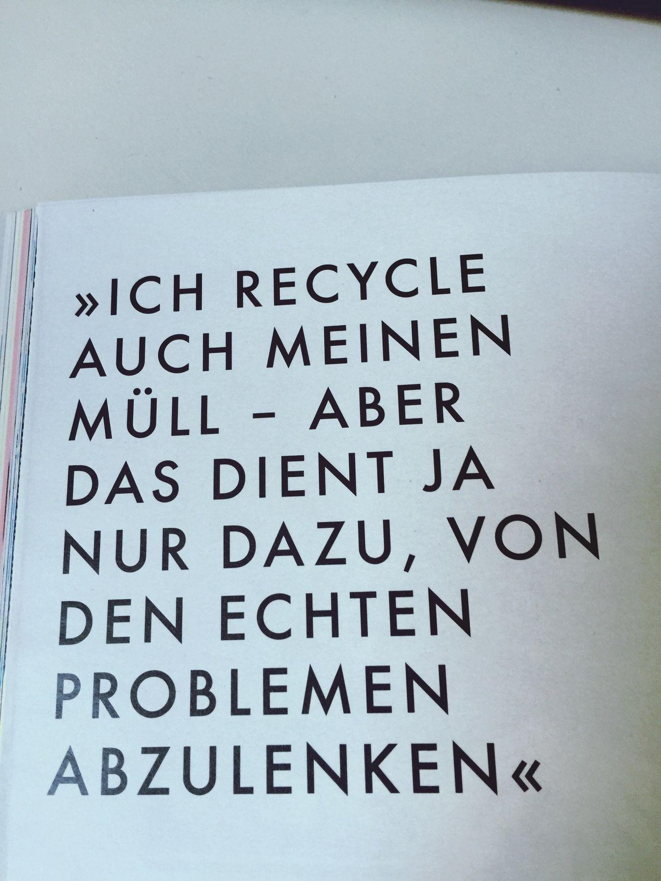 Wie sieht denn bitte Ihr Ideal aus. Müll Ideal Problem Chuann