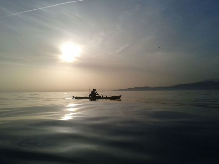 Beauty In Nature Kayak Fishing Horizon Over Water Málaga Spain ❤ Lonely