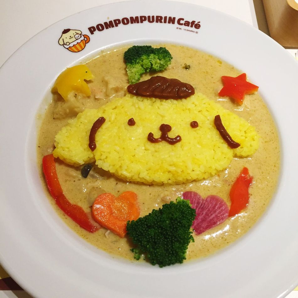 Pudding Dog E a t Curry Chicken Tom Yum Kung Taste HongKong China