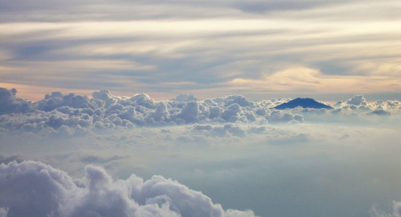 in the middle air Backgrounds Beauty In Nature Cloud - Sky Cloudscape Day Full Frame Mountain Nature No People Outdoors Scenics Sky Sky Only Tranquil Scene Tranquility White Color