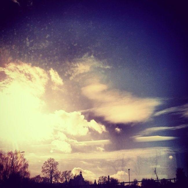 Benesov Sunny Day Spring weather in winter czech love_it tagsforlikes instaphoto train station