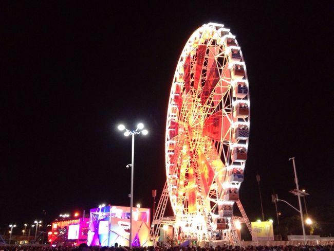 Rock in Rio 2013 Ferris wheel Illuminated Rock'n'Roll Ferris Wheel Night Overnight Success