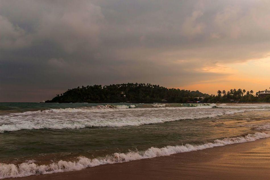 Good Morning ☺ Sunset Beach Sea Sand Outdoors Mirissa
