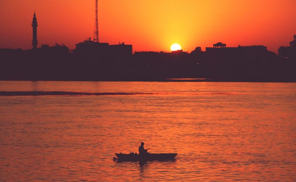 Sunset Silhouette Water Nautical Vessel Outdoors People Sky Istanbul Istanbul City Istanbullovers Istanbullife Istanbul Life EyeEmNewHere
