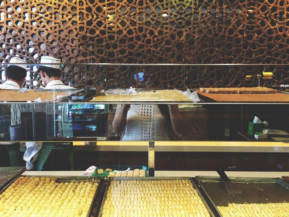 Shades Of Gold Oriental Sweets Baklava Mirrorselfie