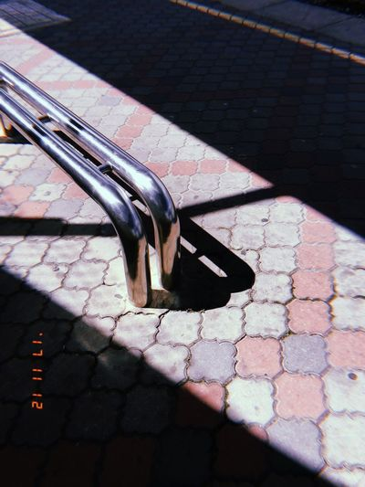 Shadow. Sunlight Shadow Metal No People Outdoors