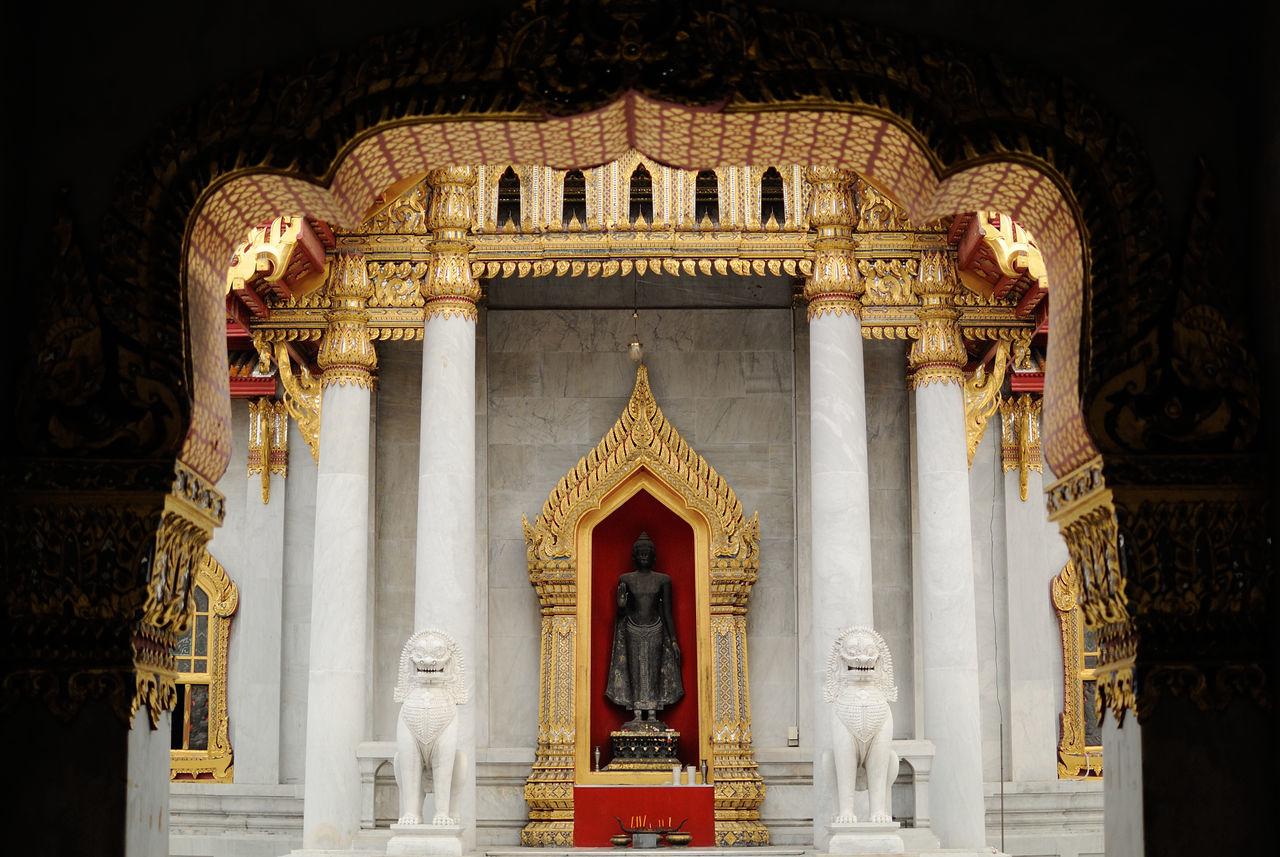 Beautiful stock photos of bangkok, gold colored, door, gold, no people