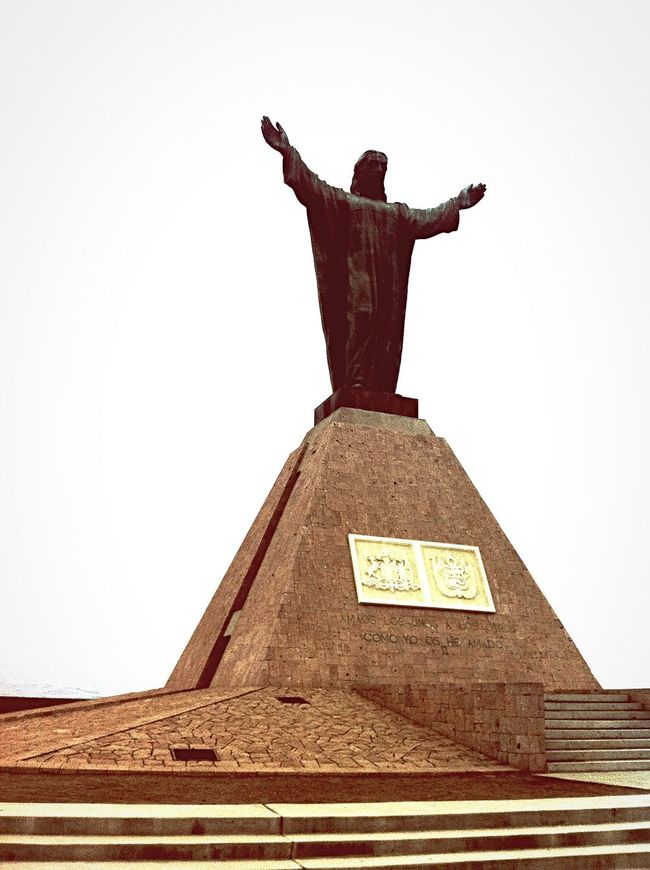 Arica -chilean Chile Jesus Christian Statue Light Traveling