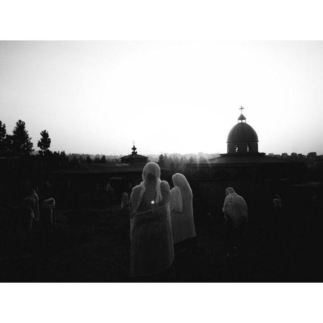 Picoftheday saint Micheal Day GoroMichael Sunrise Addis  Addisababa Ethiopia Africa EthiopianOrthodox