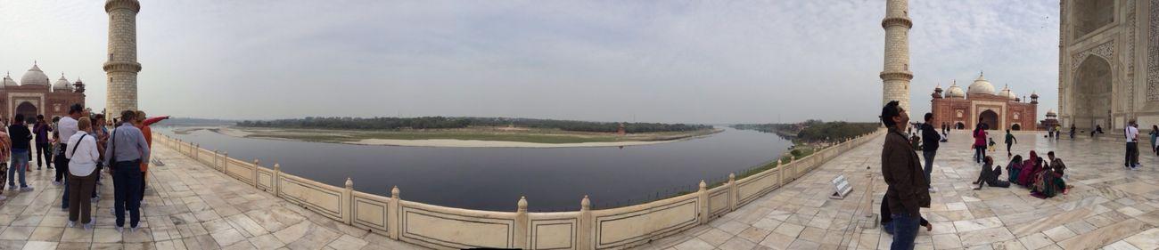 Behind the Taj Mahal