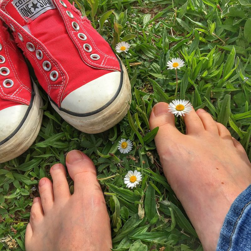 Spring Human Body Part Personal Perspective Shoe Human Foot Lifestyles Day Grass Daisies Toes Bingen Am Rhein Break The Mold EyeEmNewHere Investing In Quality Of Life Mix Yourself A Good Time