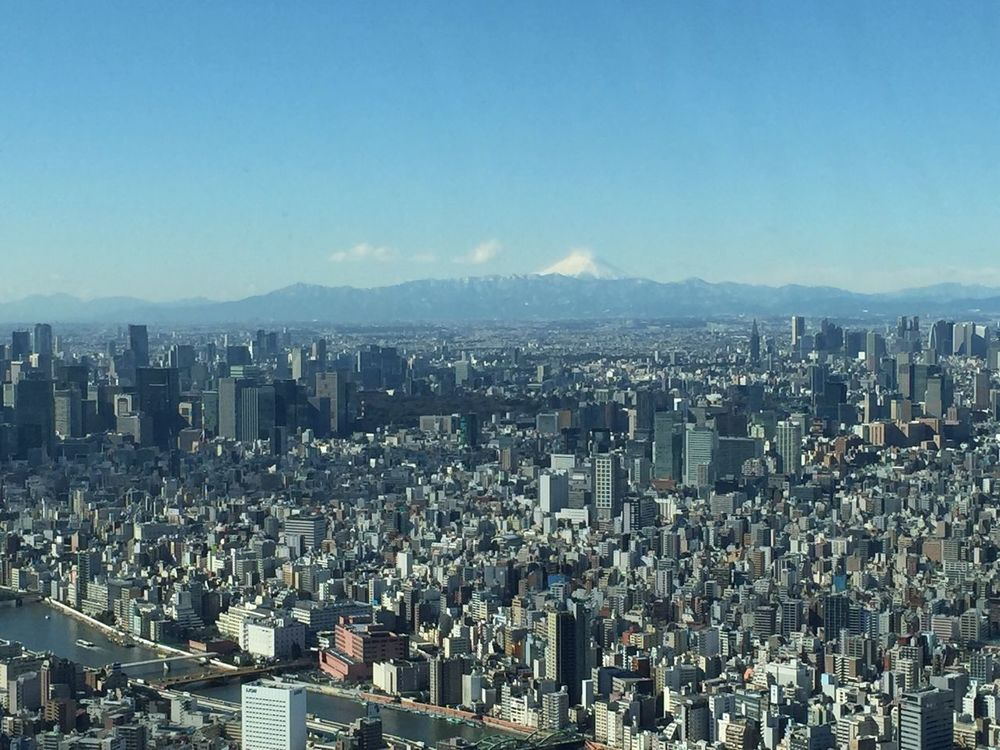 Tokyo,Japan Tokyo Tower City Urbanism Density Fuji Mont Fuji Fuji Mountain