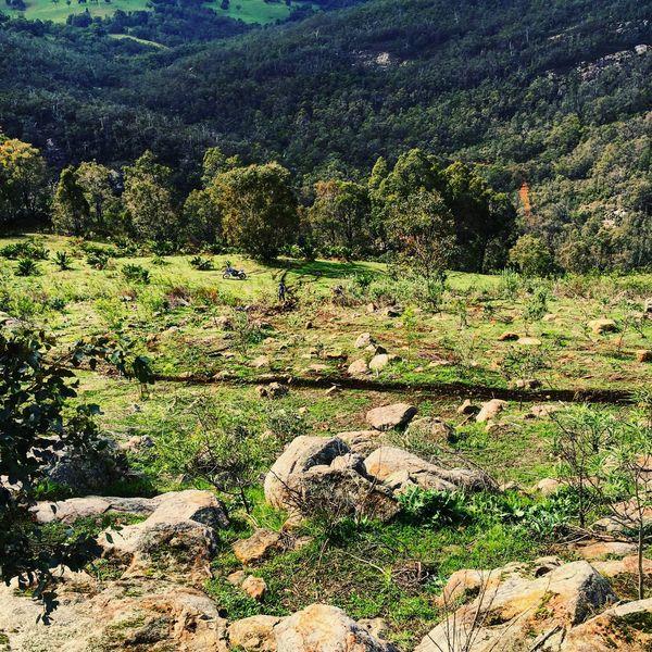 A long way down Outdoors Dirt Bike Nature
